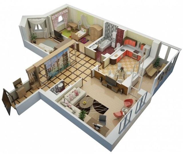 Планировка 3-х комнатной квартиры в панельном доме 5 и 9 этажей: можно ли делать перепланировку 4-х комнатного (четырехкомнатного) и трехкомнатного жилья в таких строениях и какие здесь могут быть варианты?